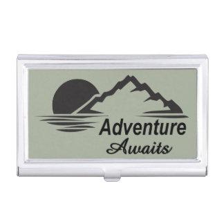 L'aventure attend la nature grande dehors boîtier pour cartes de visite