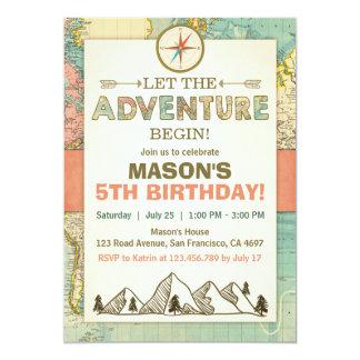 L'aventure commence la carte de voyage carton d'invitation  12,7 cm x 17,78 cm
