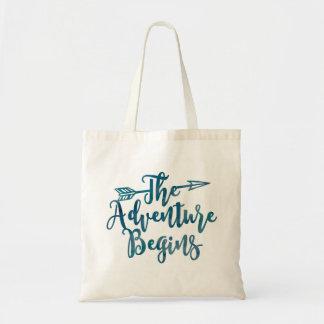 L'aventure commence le sac d'aquarelle