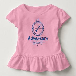 L'aventure commence t-shirt pour les tous petits