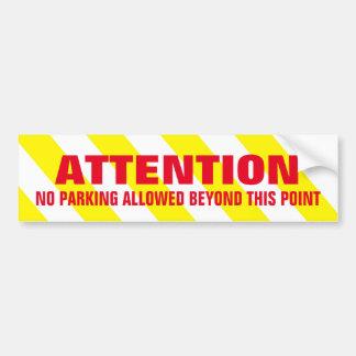 L'avertissement blanc jaune barre le stationnement autocollant pour voiture