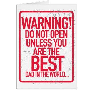 L'avertissement n'ouvrent pas des cartes de voeux