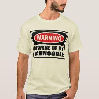 L'avertissement PRENNENT GARDE du T-shirt de MES