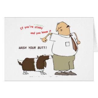Lavez votre carte de voeux de bout