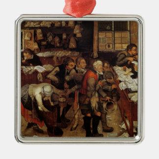 L'avocat de village, 1621 ornement carré argenté