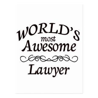 L'avocat le plus impressionnant du monde carte postale