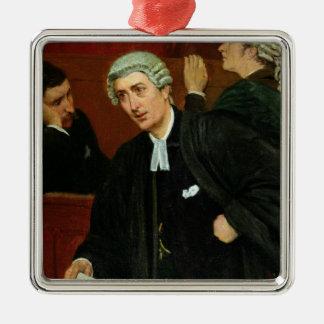 L'avocat Ornement Carré Argenté