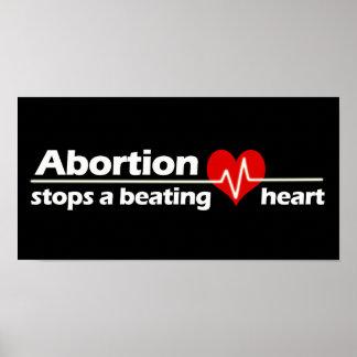 L'avortement arrête un coeur battant, contre l'avo posters