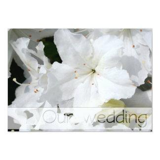 L'azalée blanche - notre mariage - invitations personnalisées