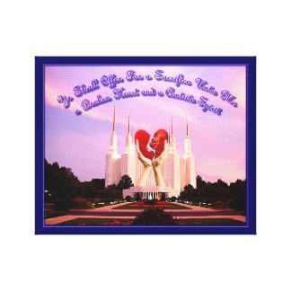 LDS Washington, D.C. Temple Impression Sur Toile