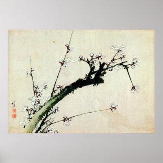 le 梅花, prune de 北斎 se développe, Hokusai, Ukiyo-e Posters