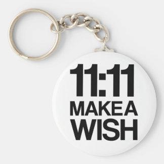 Le 11h11 FONT un porte - clé de SOUHAIT Porte-clé Rond