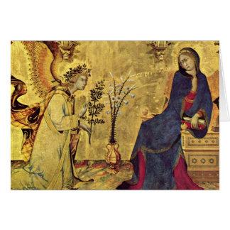 Le 13ème siècle d'annonce carte de vœux