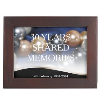 Le 30ème anniversaire de perles ajoutent votre pho boîtes à souvenirs