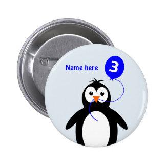 le 3ème pingouin d'anniversaire ajoutent le bleu badges