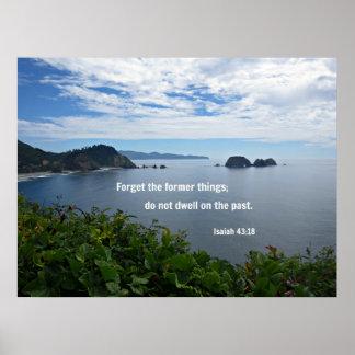Le 43:18 d'Isaïe oublient les anciennes choses ; Affiche