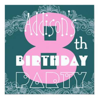 Le 8ème anniversaire Teal rose moderne nommé fait Bristol Personnalisé