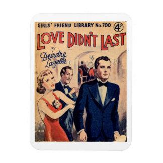 """Le """"amour n'a pas duré"""" l'aimant vintage de magnets rectangulaire"""