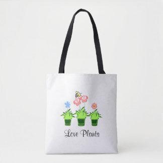 """Le """"amour plante"""" le sac fourre-tout """"à amant de"""