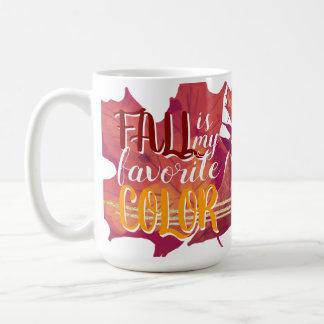 """Le """"automne est tasse de ma couleur préférée"""""""