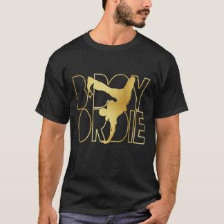 Le B-Garçon ou meurent silhouette - or T-shirt