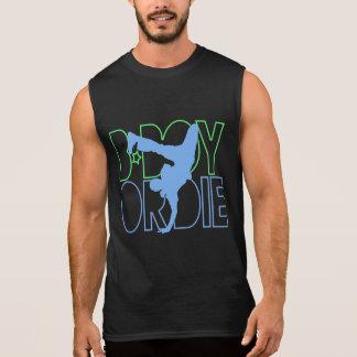 Le B-Garçon ou meurent silhouette T-shirt Sans Manches