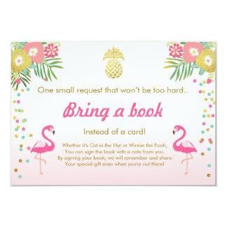 Le baby shower apportent à un flamant de livre le carton d'invitation 8,89 cm x 12,70 cm