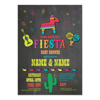 Le baby shower de fiesta couple l'invitation carton d'invitation  12,7 cm x 17,78 cm