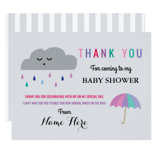 Le baby shower de nuage de cartes de Merci