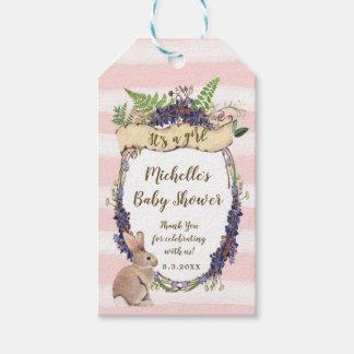 le baby shower rose étiquette le lapin que c'est