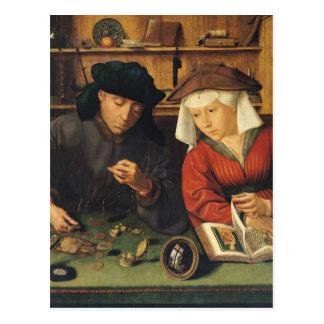 Le bailleur de fonds et son épouse, 1514 carte postale