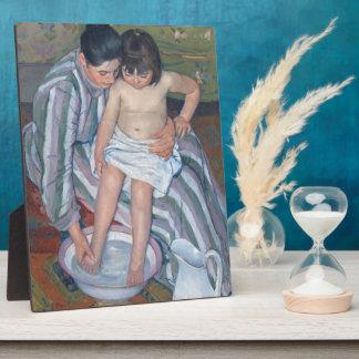 Le bain de l'enfant, 1893 (huile sur la toile) impression sur plaque