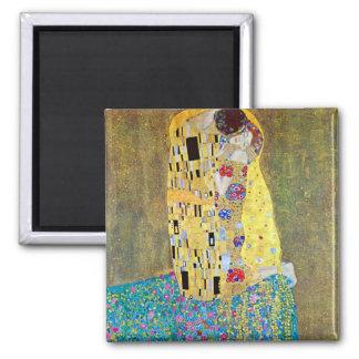 Le baiser 2 par Gustav Klimt Magnets Pour Réfrigérateur