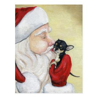 """Le """"baiser de Père Noël carte postale d'art de"""