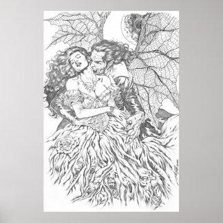 Le baiser du vampire par Al Rio - art de vampire e Posters