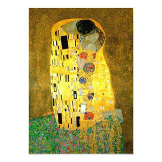 Le baiser Gustav Klimt épousant l'invitation de | Carton D'invitation 12,7 Cm X 17,78 Cm