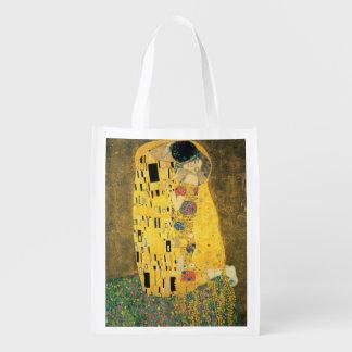 Le baiser - Gustav Klimt Sac Réutilisable D'épcierie