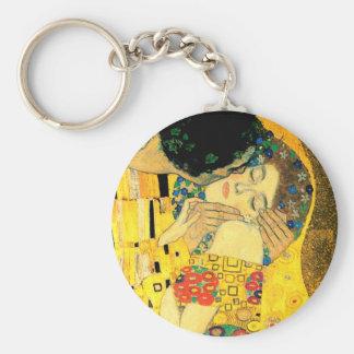 Le baiser par art Nouveau de Gustav Klimt Porte-clés