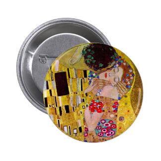 Le baiser par Gustav Klimt, art vintage Nouveau Badges Avec Agrafe