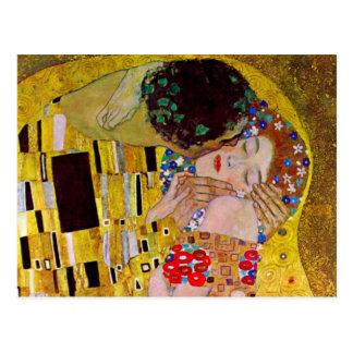 Le baiser par Gustav Klimt, art vintage Nouveau Carte Postale