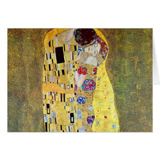 Le baiser par Gustav Klimt, art vintage Nouveau Cartes