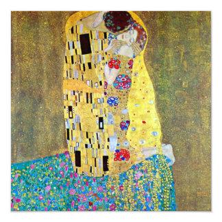 Le baiser par Gustav Klimt, art vintage Nouveau Carton D'invitation 13,33 Cm