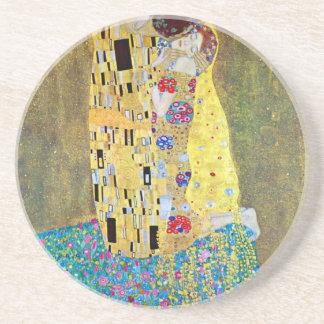 Le baiser par Gustav Klimt, art vintage Nouveau Dessous De Verres