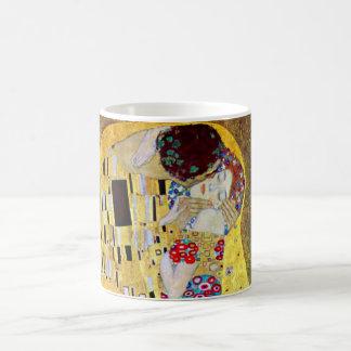 Le baiser par Gustav Klimt, art vintage Nouveau Mug Blanc