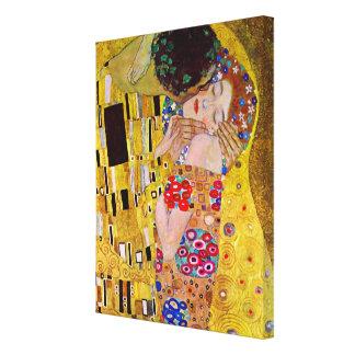 Le baiser par Gustav Klimt, art vintage Nouveau Toiles