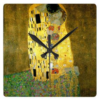 Le baiser par Gustav Klimt Pendule