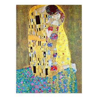 Le baiser par Gustav Klimt, mariage de Nouveau Carton D'invitation 16,51 Cm X 22,22 Cm