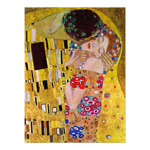 Le baiser par Gustav Klimt, mariage victorien d'ar Cartons D'invitation