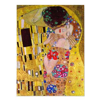 Le baiser par Gustav Klimt, mariage victorien Carton D'invitation 16,51 Cm X 22,22 Cm