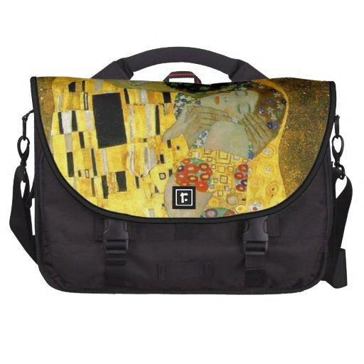 Le baiser par Gustav Klimt Sacoche Ordinateurs Portables
